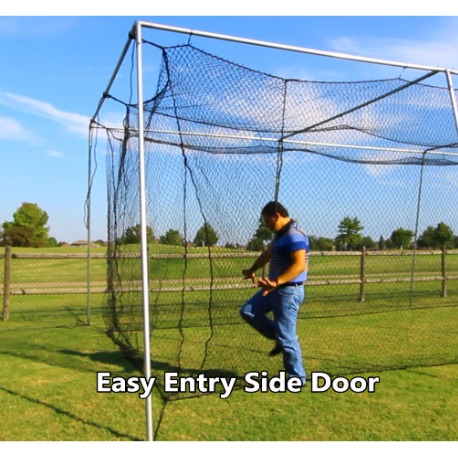 backyard-batting-cage-side-door
