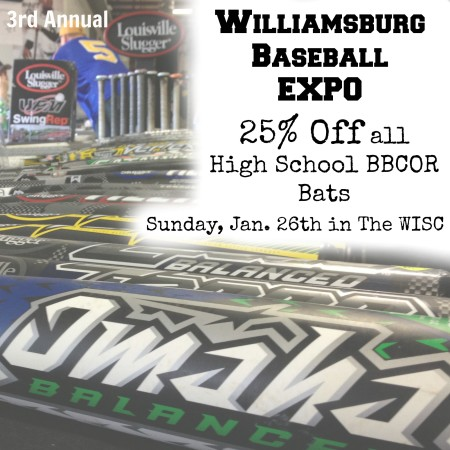 Williamsburg Baseball EXPO BBCOR Sale