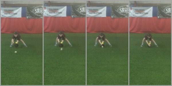 Youth Player Using Two Hand Pro
