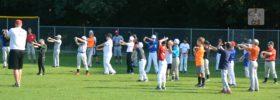 CBI Baseball Camp Morning Warm ups