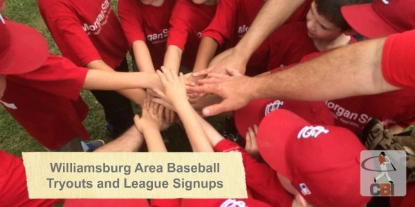 Williamsburg Area Baseball Tryouts and Youth League Registration