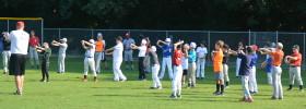Baseball Camp Warm Up